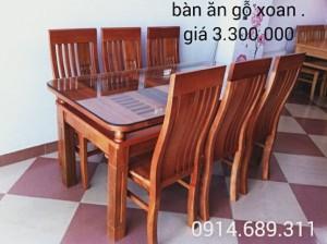 bàn ghế ăn gỗ xoan