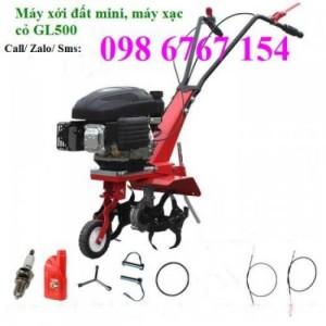 Máy xới đất làm màu, máy xạc cỏ đẩy tay mini GL500 giá rẻ