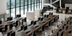 Chuyên thiết kế thi công mới hoặc sửa chữa cải tạo nội thất văn phòng công ty trong các tòa nhà.