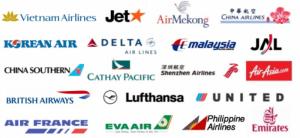 Nhận đặt vé các hãng hàng không hiện có tại Việt Nam