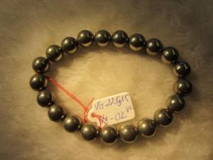 Vòng đeo tay đá Vàng Găm Pyrit 100% thiên nhiên hạt tròn 8 ly