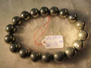 Vòng đeo tay đá Vàng Găm Pyrit 100% thiên nhiên hạt tròn 10 ly