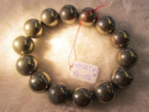 Vòng đeo tay đá Vàng Găm Pyrit 100% thiên nhiên hạt tròn 14 ly mang những hồi ức ngọt ngào đến với bạn
