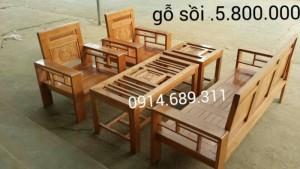 Bộ bàn ghế phòng khách gỗ sồi nga