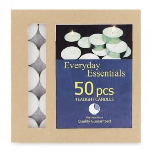 Nến tealight trắng 50 viên
