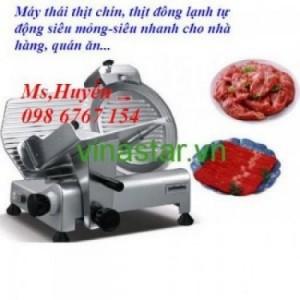 Máy thái thịt nhà hàng ES300, máy thái thịt chín thịt đông lạnh giá tốt tại Vinastar
