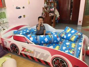 Giường đơn ô tô bé trai, giường xe ô tô F21, giường đơn xe ô tô, Nội thất trẻ em F21,