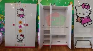 Tủ áo Hello Kitty cho bé gái, tủ áo trẻ em F21, Hello Kitty F21,   nội thất trẻ em F21,