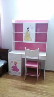 Bàn học công chúa, bàn học Hello Kitty, nội thất trẻ em F21
