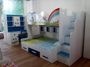 Giường tầng lâu đài F21, giường tầng gỗ F21, nội thất giường tầng trẻ em F21