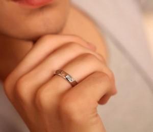 mẫu nhẫn đôi bạc nguyên chất lịch lãm trẻ trung