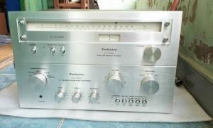 Ampli Technics 7600 va Tuner Tecnics 7200.