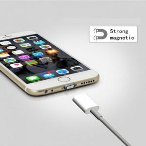 Cáp Sạc Từ Hít Nam Châm Iphone 5,6,6Plus White Box