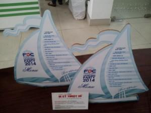 Sản phẩm in PP cán format làm mô hình cho sự kiện | In Kỹ Thuật Số in ấn, cán format, tấm format được cắt lazer để có được thành phẩm như hình