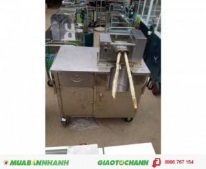 Máy ép nước mía 2 cây 1 lúc có thùng đựng bã mía, ngăn kéo đựng tiền.