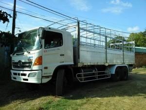 Kích thước tổng thể: 9.870x 2.500x 3.550 mm. Kích thước thùng: 7.650x 2.350x 760/2.150 mm. Tải trọng: 15.350 KG. Tổng tải trọng: 23.950 kg. Động cơ: J08E-UF 7.684 lít, 6 xi lanh.