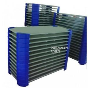 giường lưới mầm non kích thước 60*120*10 (cm) lưới nhập khẩu 100%, khung kẽm, chân nhựa đúc
