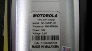 Bộ đàm motorola gp-3588 plus12w MADE IN MALAISIA