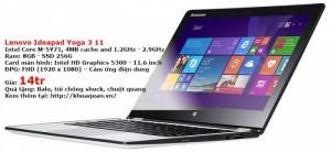 Lenovo Ideapad Yoga 3 11 ( Core M-5Y71 – Ram 8G – SSD 256G – 11″ – FHD)