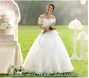 Áo cưới kiêu sa lộng lẫy, áo cưới đuôi cá, áo cưới giá rẻ...