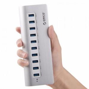 Bộ chia 10 cổng USB 3.0 Orico M3H10 vỏ nhôm