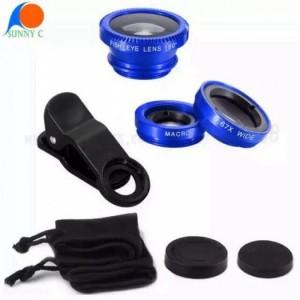 Ống kính (lens) chụp hình 3 in 1 (macro, wide, fisheye)