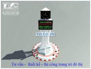 Tháp đồng hồ đô thị công nghệ led điện tử