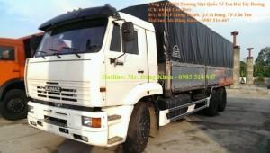 Xe tải thùng Kamaz mui bạt,14 tấn,3 chân,2 cầu,nhập khẩu,mới