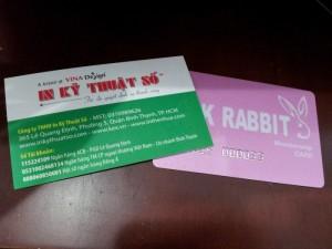 In thẻ membership card - một loại hình của thẻ khách hàng thân thiết | Thẻ ánh kim, dập nổi