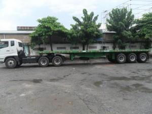 Sơ mi rơ mooc sàn DOOSUNG ( chở container) 40 feet, 3 trục Giao Xe Toàn Quốc Trả Góp