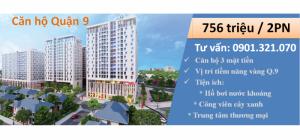 Hot, mở bán CH trung tâm quận 9 với giá chỉ 765tr sở hữu căn 2PN, trả góp 4,8tr/tháng