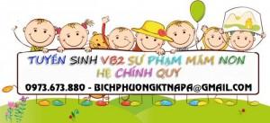 Tuyển sinh văn bằng 2 mầm non tại Hà Nội, Đà Nẵng, Bình Dương....