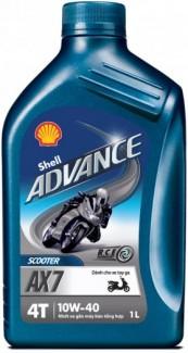 Nhớt Shell Advance AX7 Scooter 10W-40 0.8L