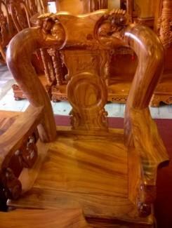 Bộ bàn ghế gỗ cẩm lai cột 12, 10 món VIP -...