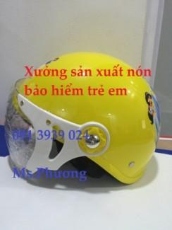 Mũ bảo hiểm trẻ em có in logo ,nón bảo hiểm trẻ em có kính TP HCM