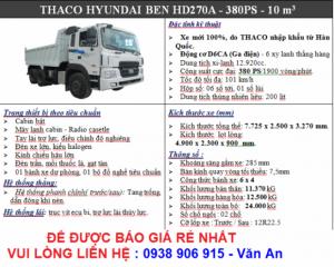 xe ben hyundai 3 chân giá rẻ nhất
