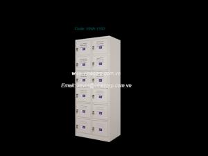 Tủ locker đôi, 6 cánh Size (mm): 737W x 457D x 1830H Chất liệu: kim loại, gỗ