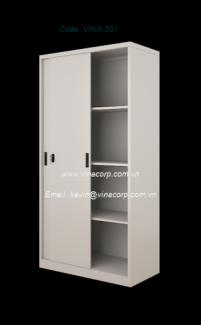 Tủ cánh trượt Size (mm): 915W x 457D x 1830H Chất liệu: kim loại, gỗ