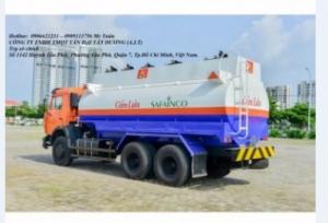 Xe bồn Kamaz 53229 bồn xăng dầu 18m3 mới...