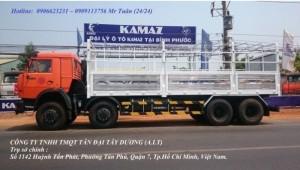 Bán xe tải thùng Kamaz 6540 mới 2016 (Loại 21...
