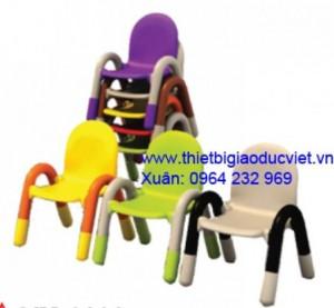 Ghế nhựa đúc cao 26cm rộng 32cm, có 4 màu