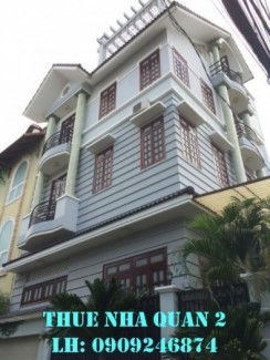 Cho thuê Biệt Thự Quận 2 khu compound 280 Lương Định Của, sân thượng, giá 25tr/tháng