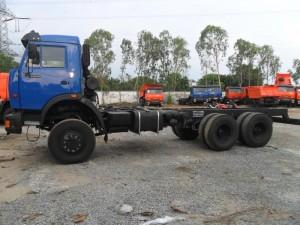 Kamaz 65117 (6x4) xe sắt xi, tải thùng 3 cầu Kamaz 15 tấn, thùng7.8m