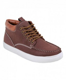 Giày ARider Brown Bob Hi-Top Sneaker