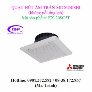 Quạt thông gió âm trần không nối ống gió Mitsubishi EX-20SC5T