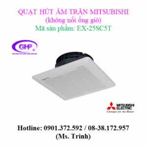 Quạt thông gió âm trần không ống dẫn Mitsubishi EX-25SC5T