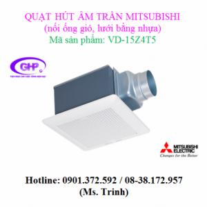 Quạt thông gió âm trần nối ống gió Mitsubishi VD-15Z4T5 lưới bằng nhựa