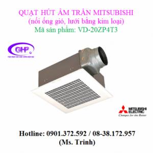 Quạt thông gió âm trần Mitsubishi VD-20ZP4T3 có ống dẫn