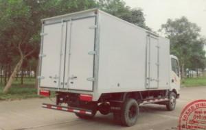 Xe tải thùng kín Kích thước lòng thùng hàng (hoặc kích thước bao xi téc) :4350 x 2000 x 1830 mm