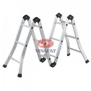 Trọng lượng 13.0kg,  Chiều cao duỗi thẳng 3.7m, chiều cao chữ A 1.85m,  Tải trọng cho phép 120kg, tiêu chuẩn an toàn châu âu  EN131-1